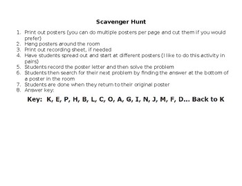Pythagorean Theorem Scavenger Hunt