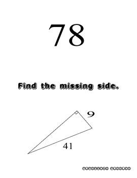 Pythagorean Theorem Scavenger Hunt - PP
