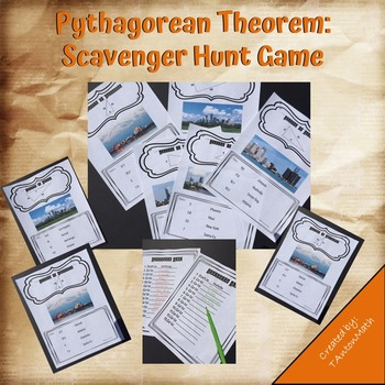 Pythagorean Theorem: Scavenger Hunt Game