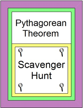Pythagorean Theorem Scavenger Hunt/Circuit 16 problems with 10 Warm ups/Exits