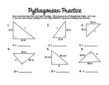 Pythagorean Theorem Set by Middle School Math Lover | TpT