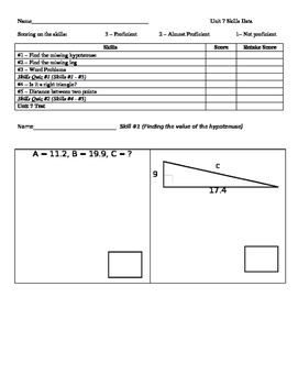 Pythagorean Theorem Skills Bundle