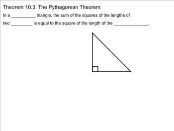 Pythagorean Theorem Smart Board Guided Notes