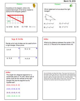 Pythagorean Theorem Smartboard Lessons 8.G.B.6, 8.G.B.7, 8.G.B.8