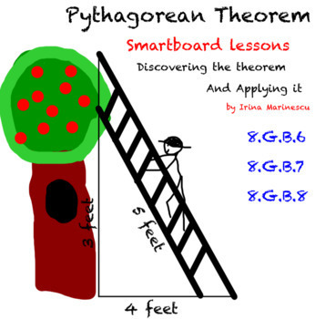 Smartboard Math Lessons And Activities Pythagorean Theorem 8.G.B.6,7,8