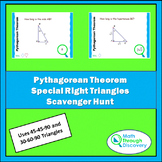 Geometry - Pythagorean Theorem - Special Right Triangles S
