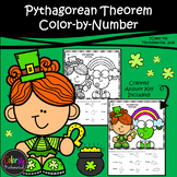 Pythagorean Theorem | St. Patrick's Day | Color-by-Number Worksheet
