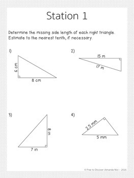 Pythagorean Theorem Stations