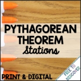 Pythagorean Theorem Print and Digital Stations   Distance