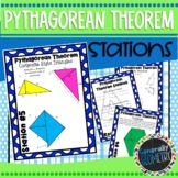 Pythagorean Theorem Stations; Geometry, Right Triangles