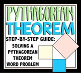 Pythagorean Theorem Step by Step Problem Solving Worksheet