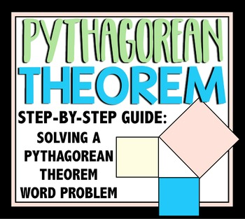 Pythagorean Theorem Step By Step Problem Solving Worksheet By
