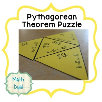Pythagorean Theorem Tarsia Puzzle