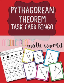 Pythagorean Theorem Task Card Bingo