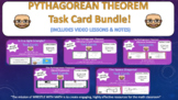 Pythagorean Theorem Task Card Bundle (60 Cards & Interactive Videos!)
