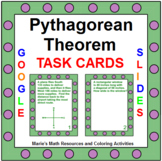 "PYTHAGOREAN THEOREM TASK CARDS: ""GOOGLE SLIDES"", SMARTBOARD, POWERPOINT"