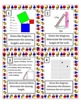 Pythagorean Theorem Task Cards