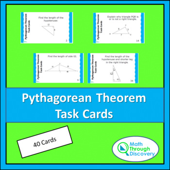 Geometry:  Pythagorean Theorem Task Cards
