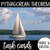 Pythagorean Theorem Task Cards with Google Form DISTANCE LEARNING
