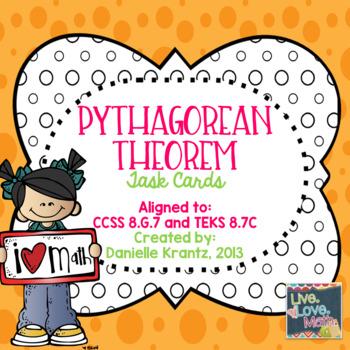 Pythagorean Theorem Task Cards 8.G
