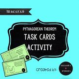 Pythagorean Theorem Task Cards Activity  TEKS  8.7C 8.6D 8