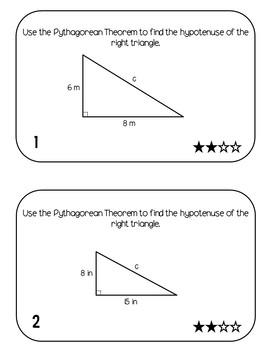 Pythagorean Theorem Task Cards - Middle School Math