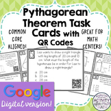 Pythagorean Theorem Task Cards with QR Codes GOOGLE Slide Version