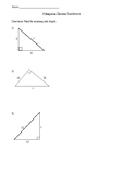 Pythagorean Theorem Test Review with Answers