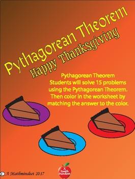 Pythagorean Theorem Thanksgiving Coloring Sheet