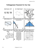 Pythagorean Theorem Tic Tac Toe TEKS 8.6c, 8.7c,8.7d