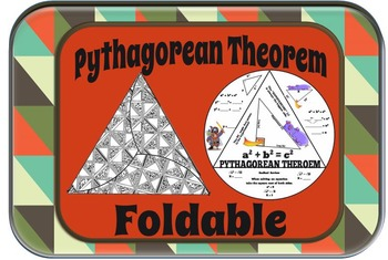 Pythagorean Theorem Triangle Foldable