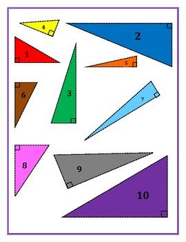 Pythagorean Theorem Triangle Measuring Activity