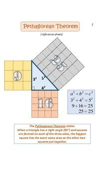 Pythagorean Theorem/Triples Foldable Notes