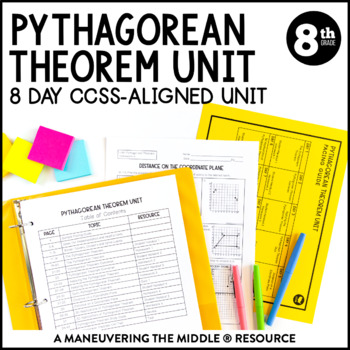 8th Grade Math Pythagorean Theorem Unit: 8.G.6, 8.G.7, 8.G.8