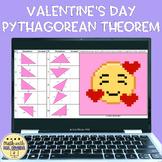Pythagorean Theorem Valentine's Day Digital Pixel Art