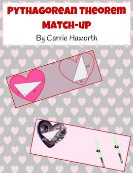 Pythagorean Theorem Valentine's Day Match Up