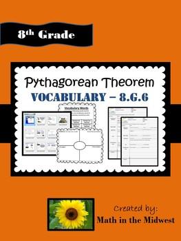 Pythagorean Theorem Vocabulary - 8.G.6