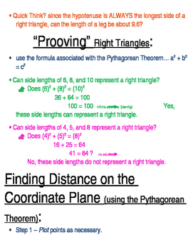 Pythagorean Theorem; Volume of Cone, Cylinder, and Sphere