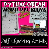 Pythagorean Theorem Word Problem Practice *distance learning