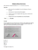 Pythagorean Theorem Word Problem Project, Pre-Algebra Assessment, Rubric