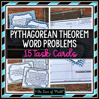 Pythagorean Theorem Word Problems by 4 the Love of Math | TpT