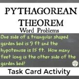 Pythagorean Theorem Task Card Activity Word Problems
