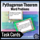 Pythagorean Theorem Word Problems Task Cards