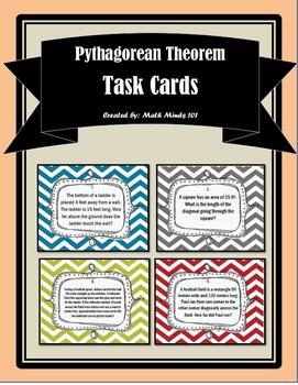 Pythagorean Theorem Word Problems - Task Cards