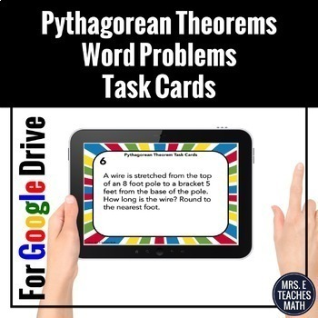 Pythagorean Theorem Word Problems Task Cards Digital Activity