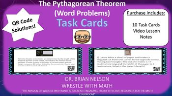 Pythagorean Theorem Word Problems - Task Cards & Interactive Video Lesson!