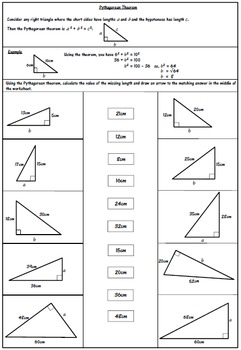 pythagorean theorem worksheet by 123 math teachers pay teachers. Black Bedroom Furniture Sets. Home Design Ideas
