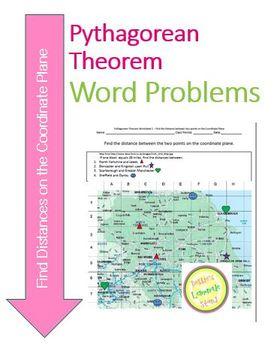 Pythagorean Theorem Worksheet 1 - Find Distances on the Coordinate Plane