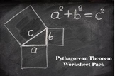 Pythagorean Theorem Worksheet Pack