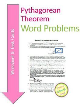 Pythagorean Theorem Worksheet & Task Cards - Real World Ap